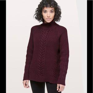 Lululemon 'Bring the Cozy' sweater in dark adobe